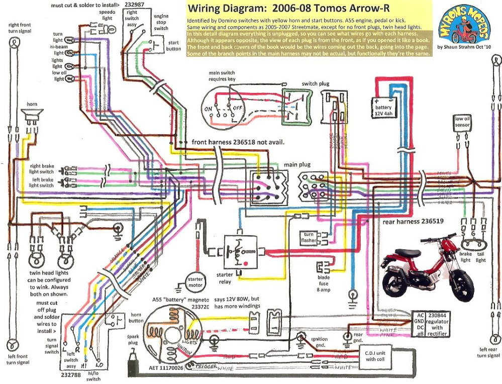 medium resolution of tvs motorcycle wiring diagram wiring librarytomos arrow r 2006 08 tomos wiring diagrams