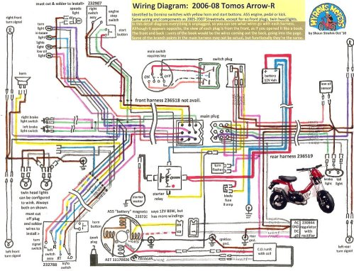 small resolution of tvs motorcycle wiring diagram wiring librarytomos arrow r 2006 08 tomos wiring diagrams