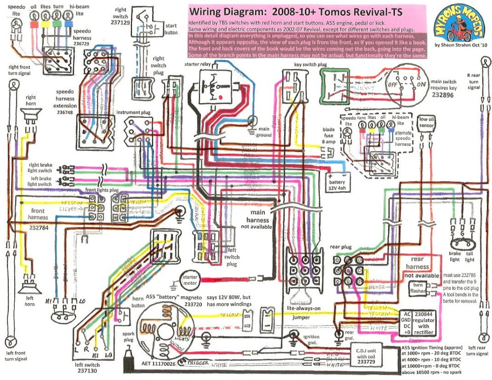 medium resolution of tomos revival 2008 12 tomos wiring diagrams