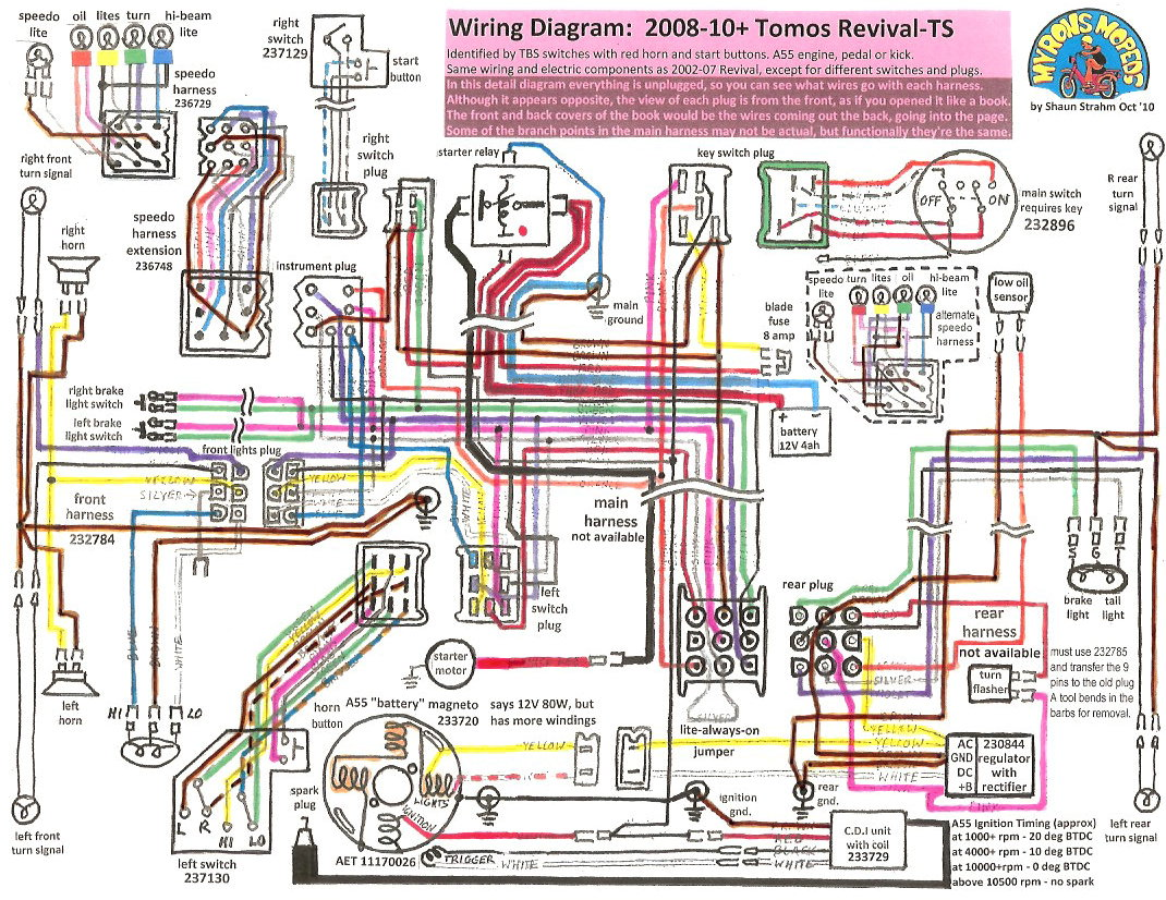 hight resolution of tomos revival 2008 12 tomos wiring diagrams