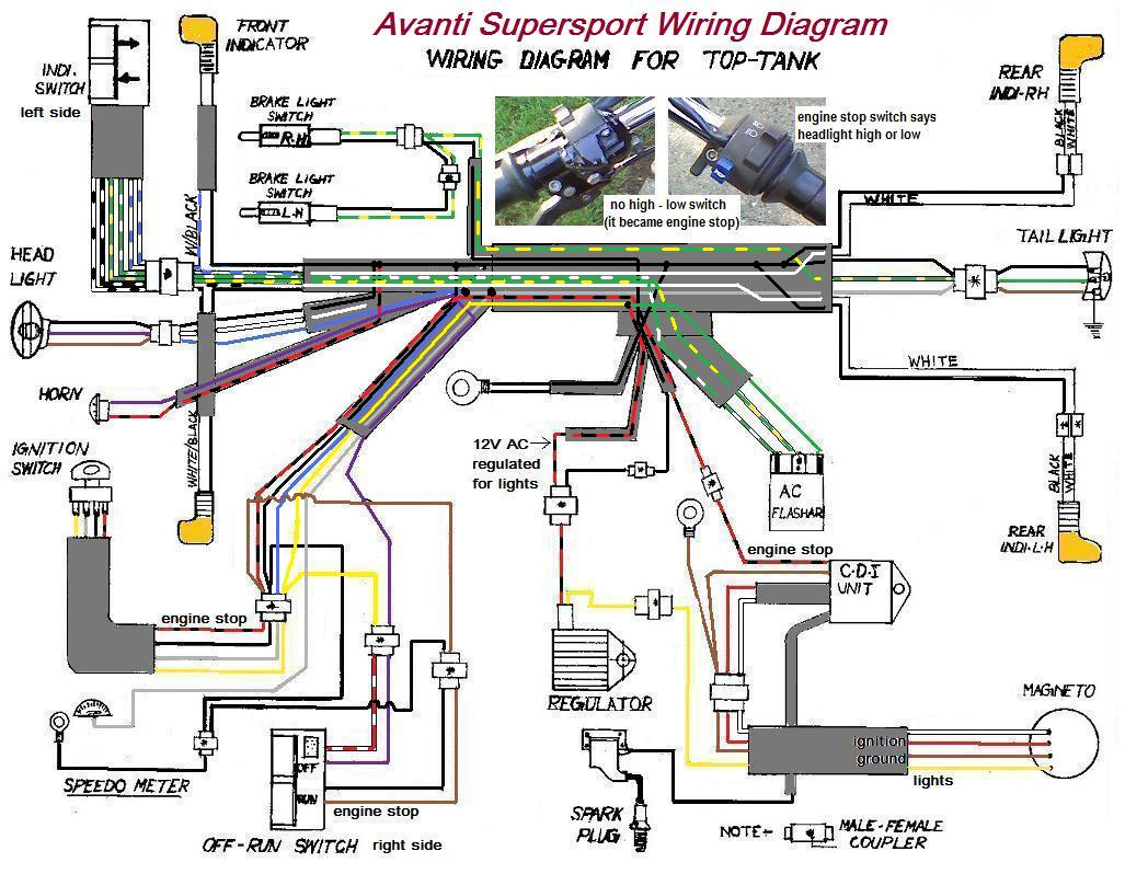 150cc quad bike wiring diagram 1974 bmw 2002 diagrams  myrons mopeds