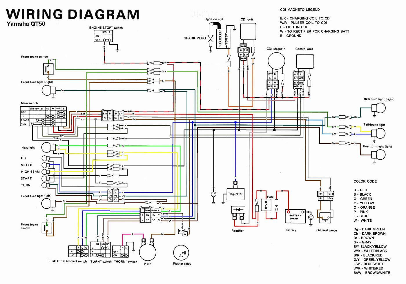 hight resolution of 1980 yamaha qt50 wiring diagram