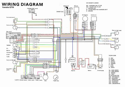 small resolution of 1980 yamaha qt50 wiring diagram