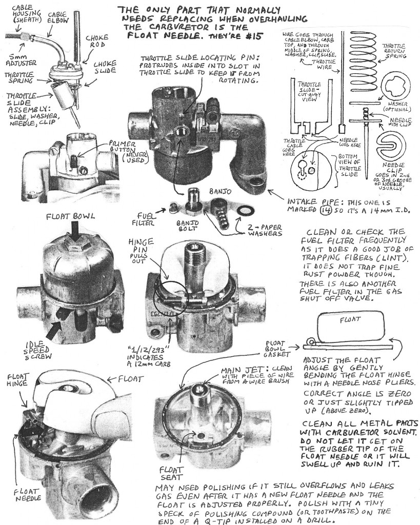 Puch Carburetor Service « Myrons Mopeds