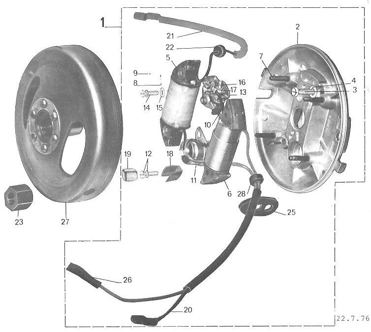 A35 Engine Diagram Peugeot Ignition Upgrade 171 Myrons Mopeds