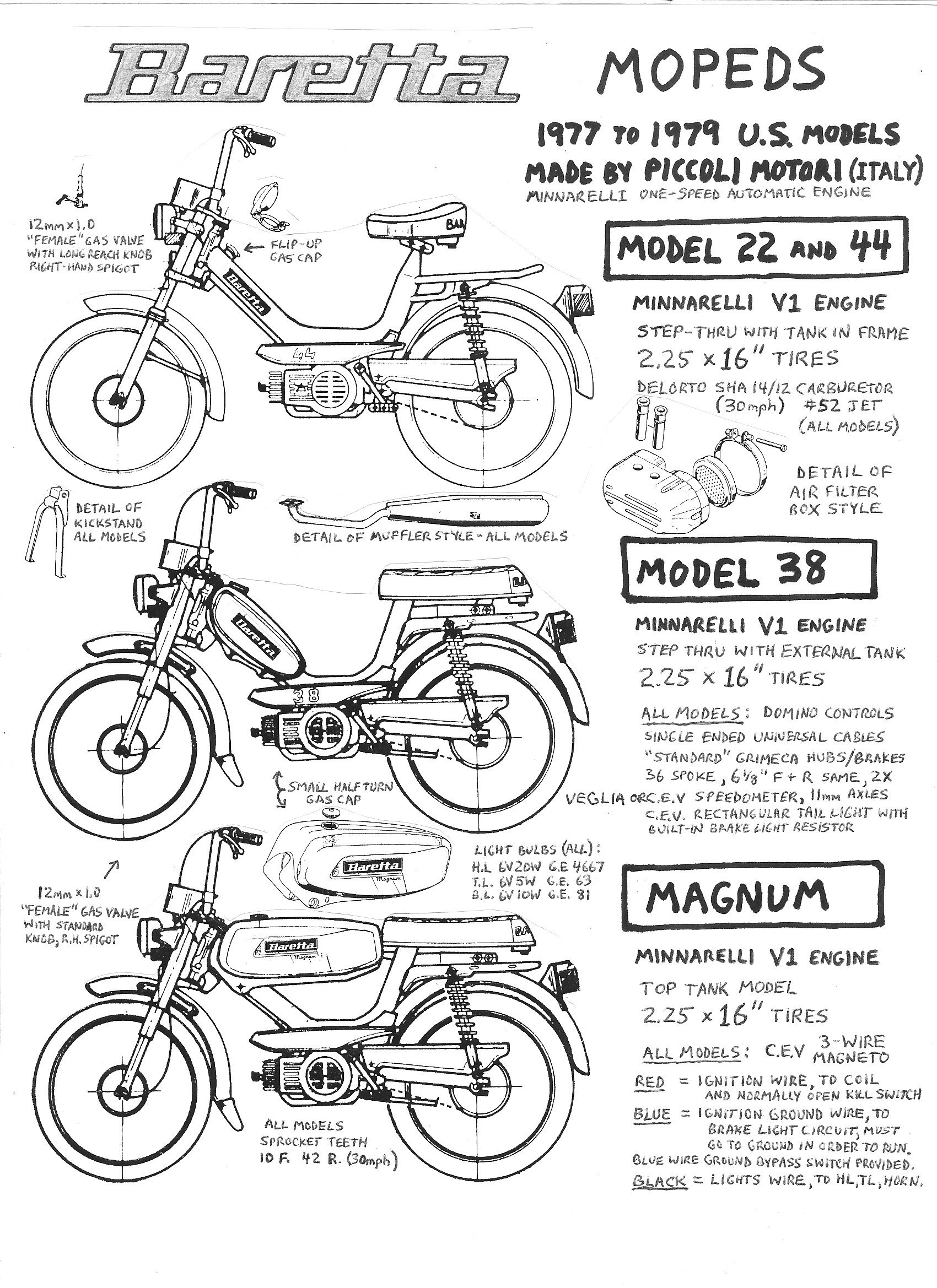 Baretta Parts « Myrons Mopeds