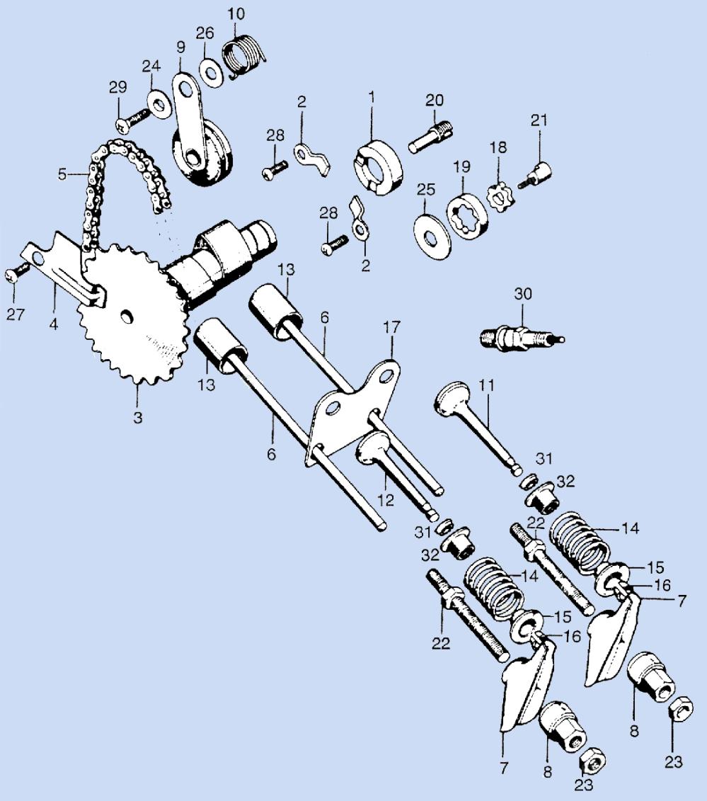 medium resolution of 3 valves and camshaft