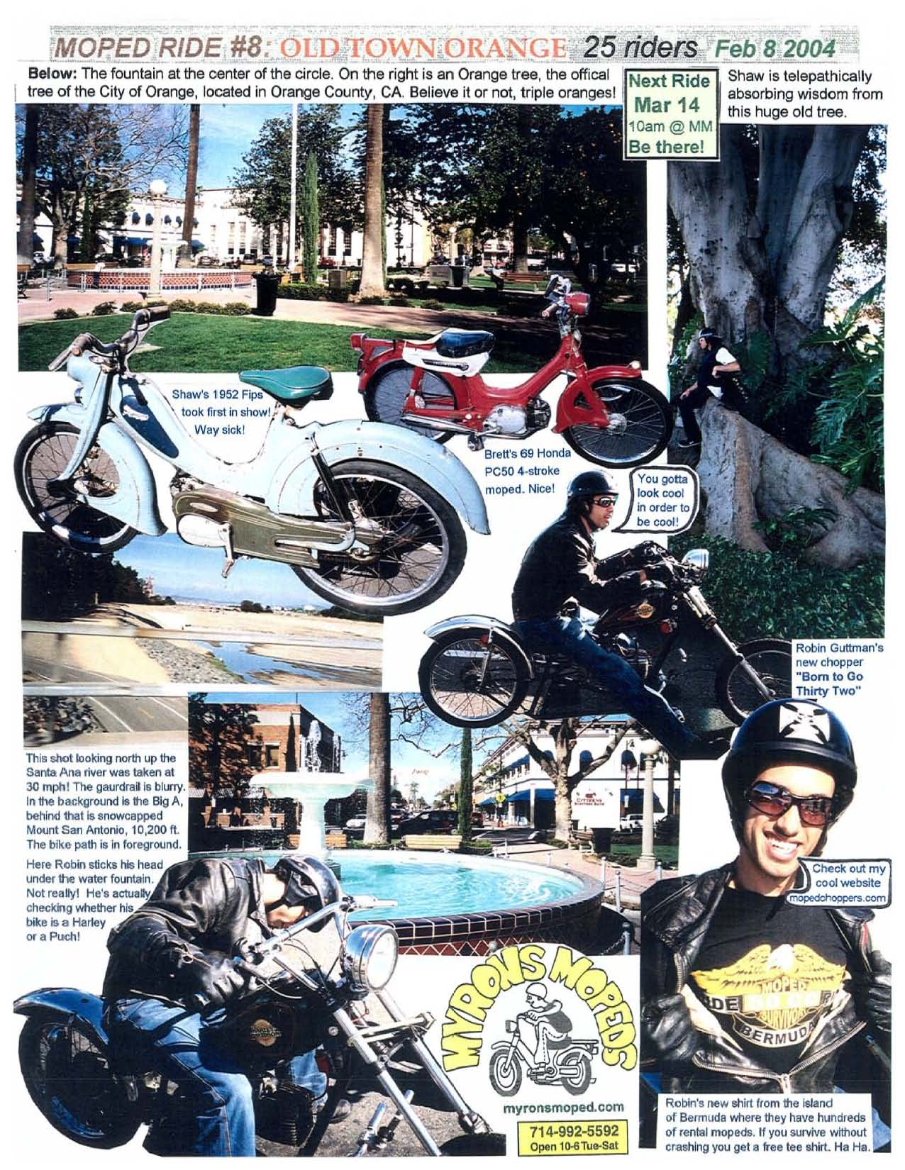 hight resolution of for your amusement all 100 monthly moped rides 2003 13 are shown in more myrons rides each ride 1 to 100 is two images a and b all 20 to 50 riders and