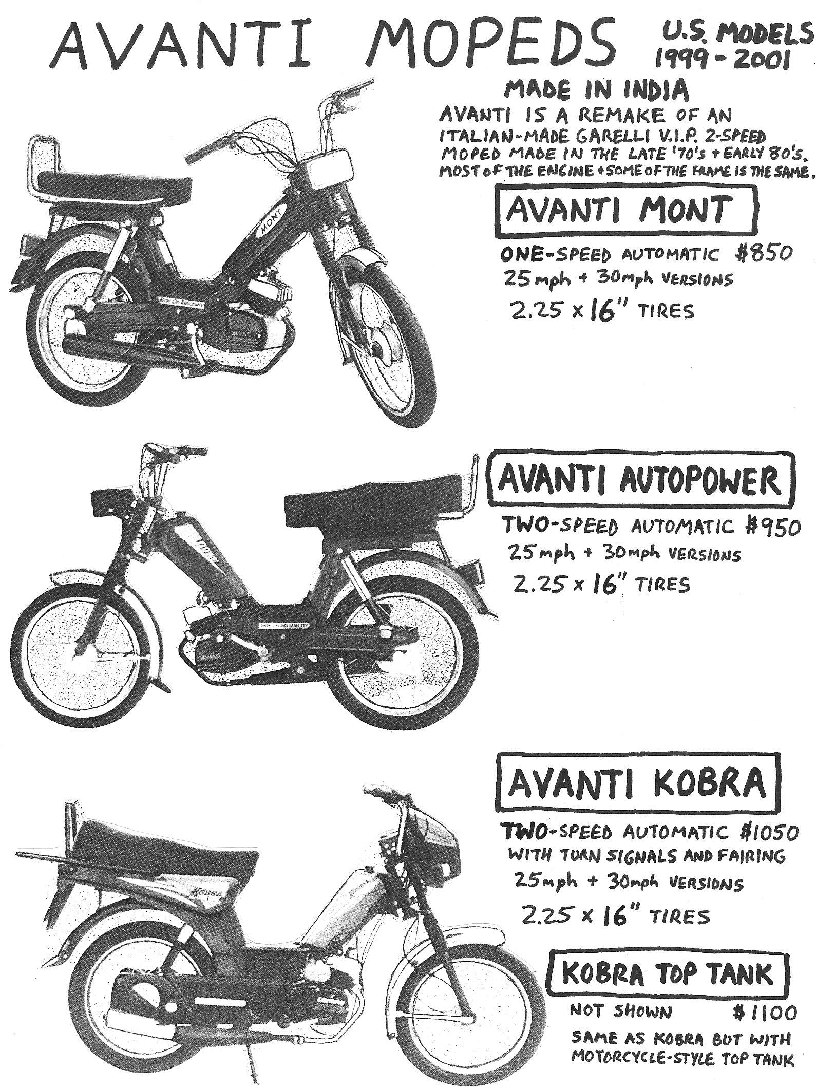 Avanti Parts « Myrons Mopeds