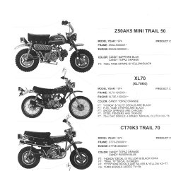 1977 Honda Ct70 Wiring Diagram Paper Origami Turtle Parts Myrons Mopeds 1974