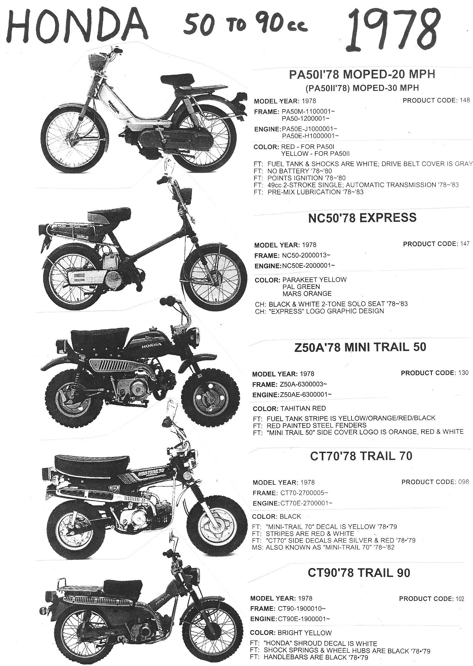 1982 honda ct70 wiring diagram