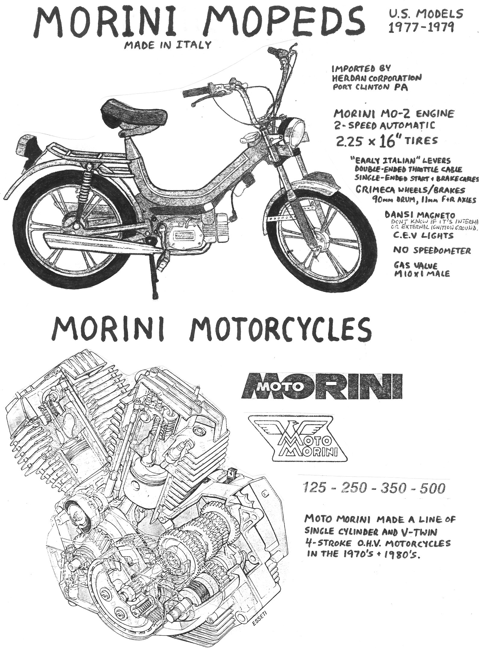 Italy Made Moped Parts Myrons Mopeds