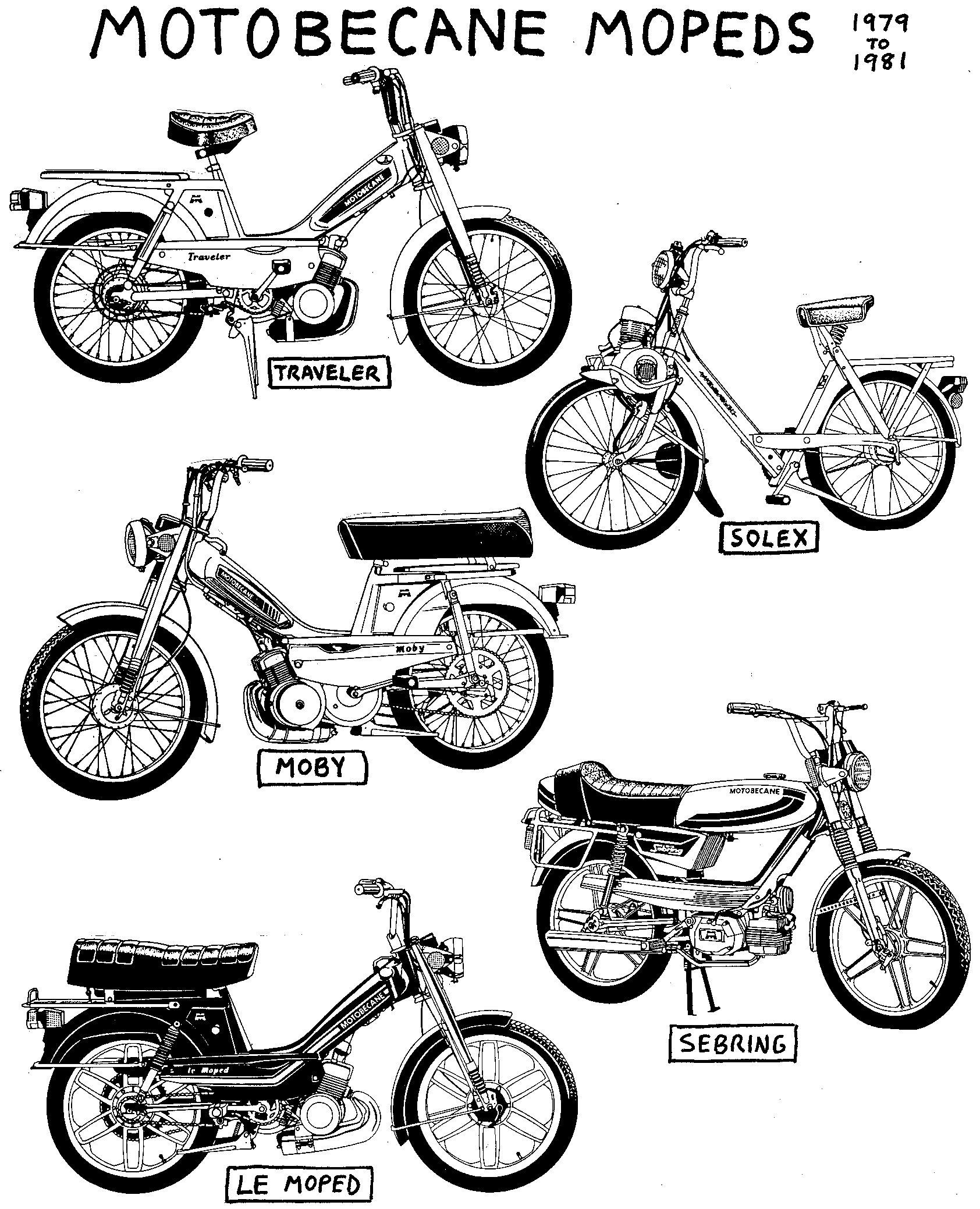 Vintage Motobecane 50cc Mobylette Moped Motorini