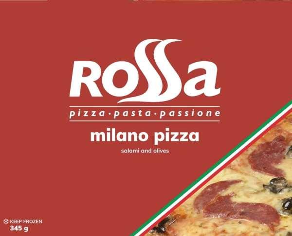 Rossa Milano Pizza - Mozzarella, tomato, salami and olives