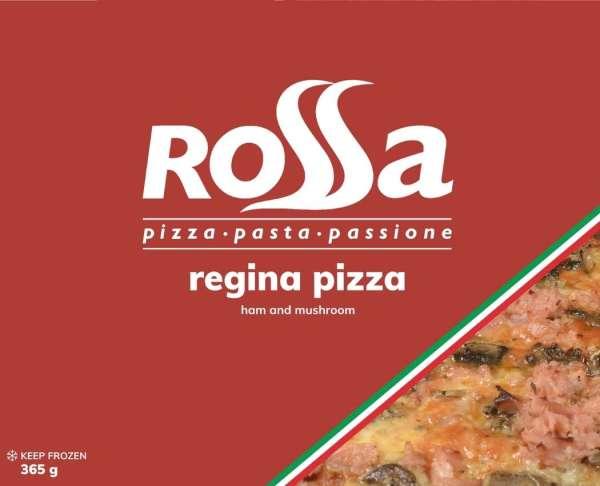 Rossa Regina Pizza - Mozzarella, tomato, ham and mushroom