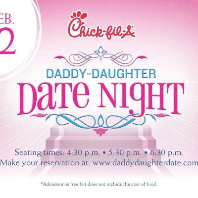 Daddy/daughter Valentine fun at Chick-fil-A