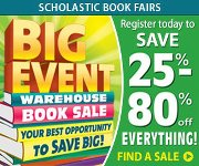 Scholastic Book Fair blow-out event at convention center