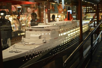 Have a look around at all of the model ships.