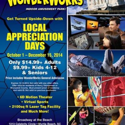 WonderWorks offers Local Appreciation Days (discount!)