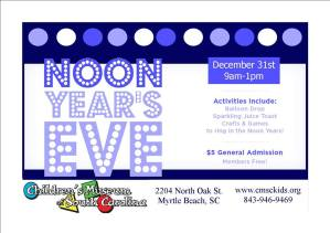 New Year's Eve for kids at the CMSC