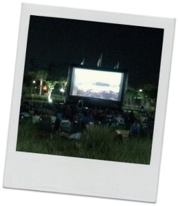 free summer movies, outdoor movies Market Common, Valor Park