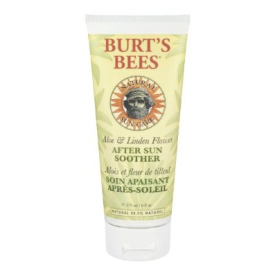 Burt's Bees Aloe & Linden Flower After Sun Soother is our new favorite for sunburn relief!