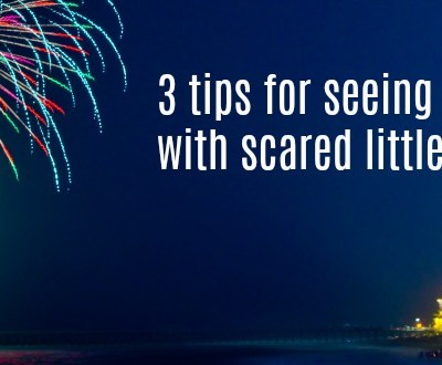 3 tips for seeing fireworks with scared little ones
