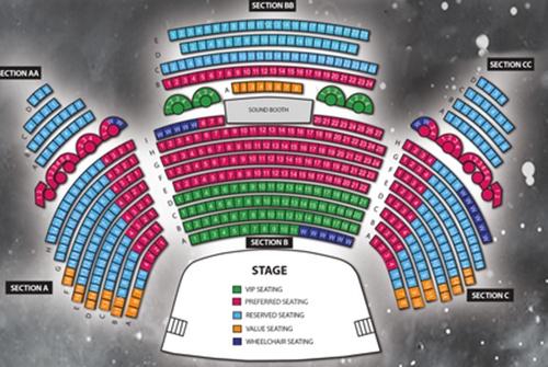 Legends In Concert Seating