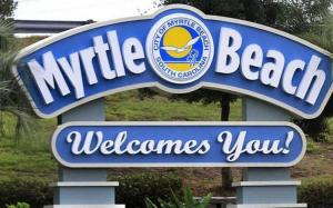 Myrtle Beach Welcome Sign Instagrammable location