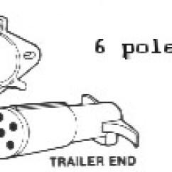 7 Round Trailer Plug Diagram Wiring Star Delta Starter And Towed Light Hookups 6 Pole