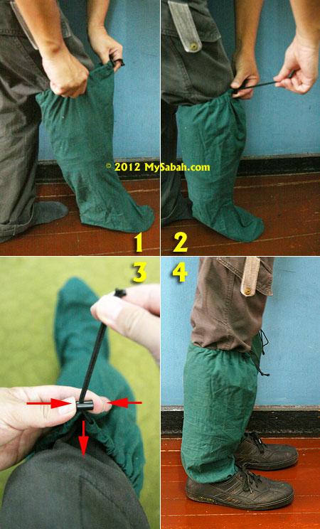 how to wear leech socks