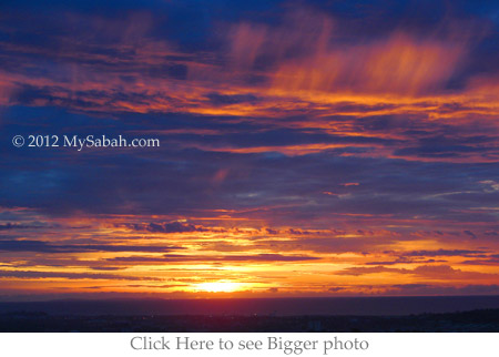 sunset of Tun Fuad Stephens Park