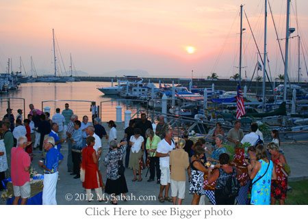sunset party at Sutera Harbor