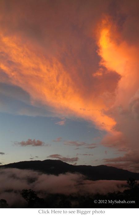sunset view of Maliau Basin
