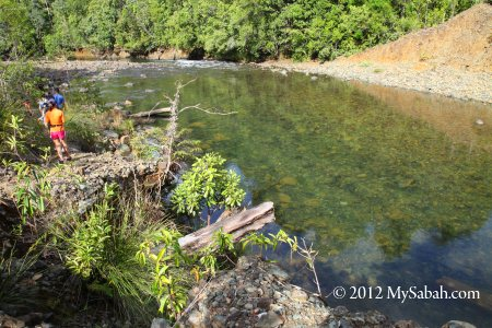 walking along Meliau River