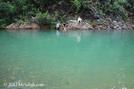 clean water of Sungai Meliau