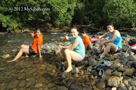 enjoying Sungai Meliau
