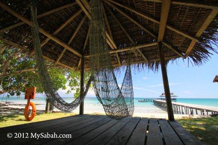 hammock in Pulau Tiga