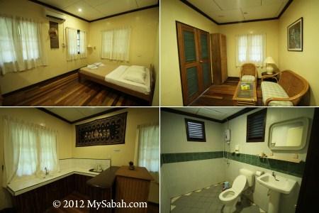 superior room of Pulau Tiga Resort