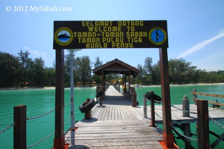 jetty of Sabah Parks