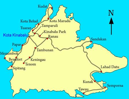 location map of Kunak