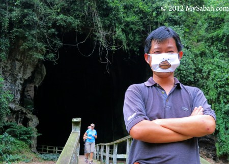front of Gomantong Cave