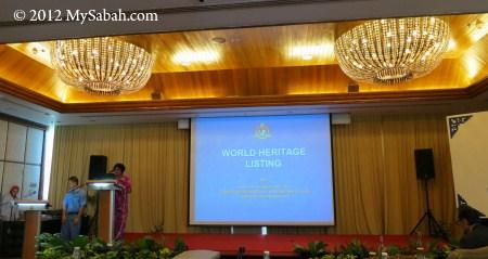 presentation in World Heritage Workshop
