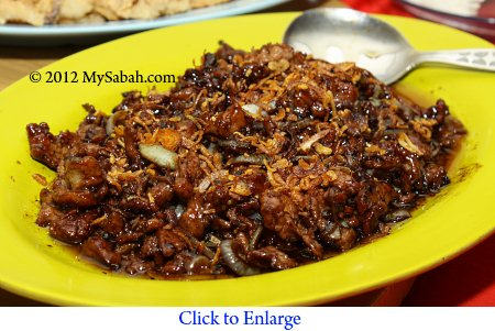 deer meat of Sabah Kunak