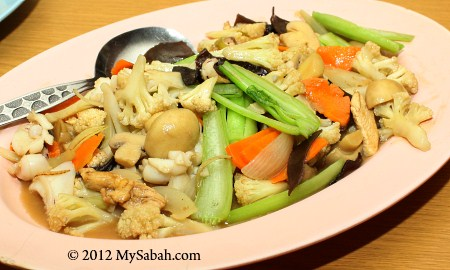 fried mixed vegetables