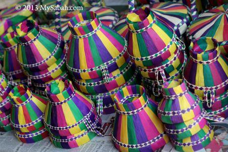 handmade baskets of Bajau