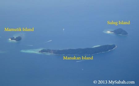 Manukan, Mamutik and Sulug Island