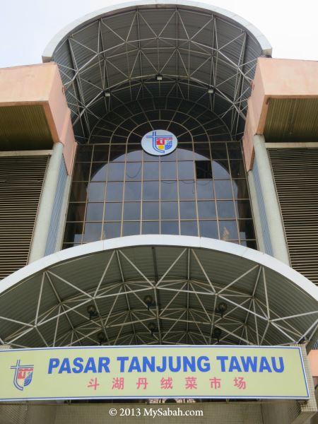 front of Pasar Tanjung Tawau