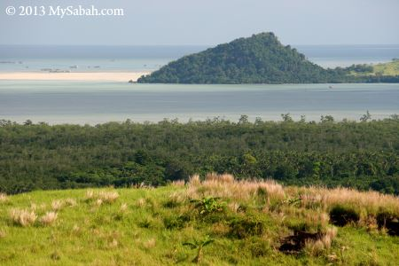 sea view from Bukit Tengkorak