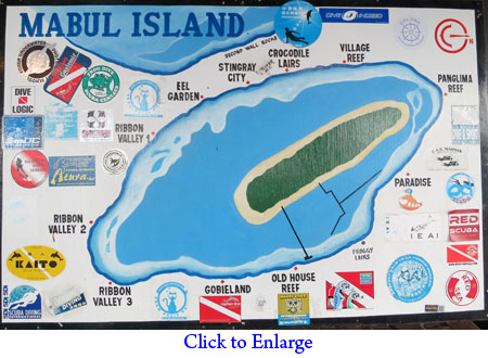 Dive sites of Mabul Island